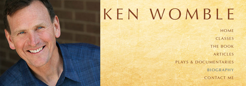 Ken Womble's Biography page header